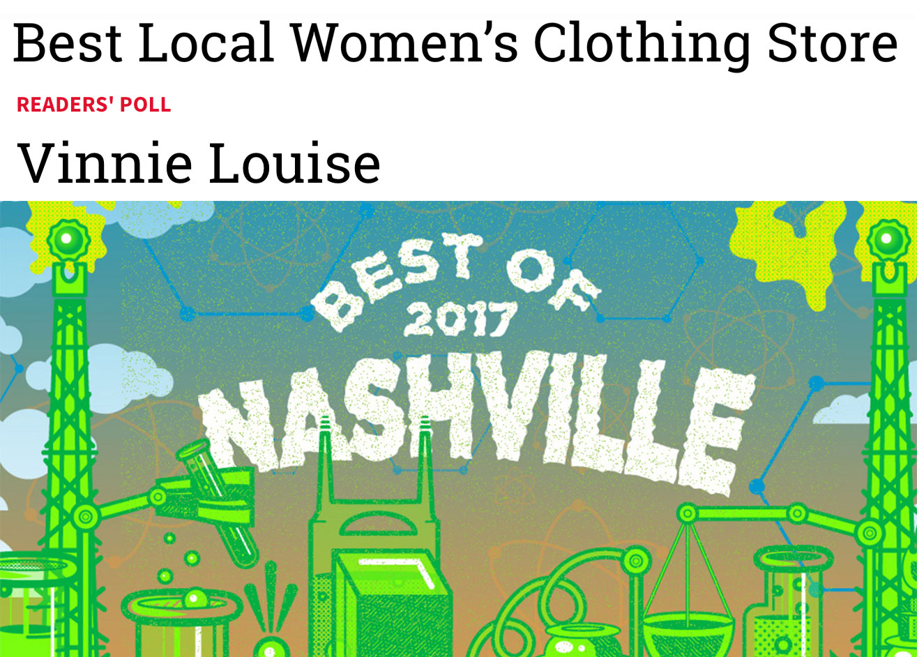 Best Local Women's Clothing Store || Nashville Scene Best Of Nashville 2017