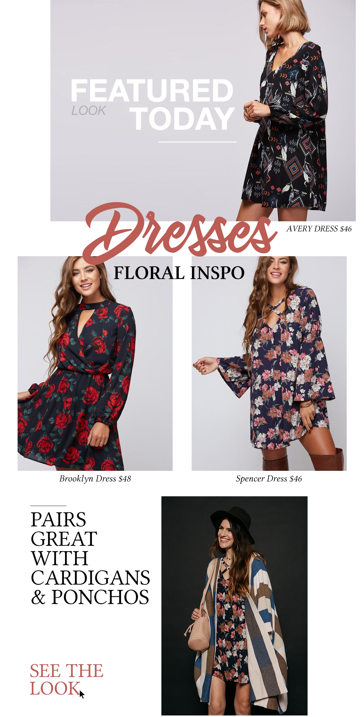 Featured Looks Today: Floral Dresses