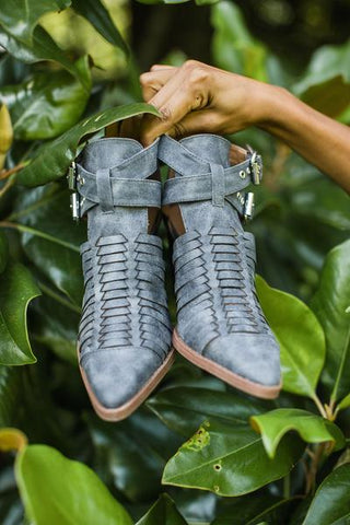 Huxley Booties in Grey - Vinnie Louise