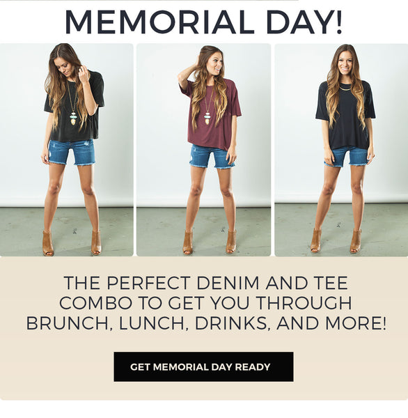 The perfect denim and kimono combo to get you through brunch, lunch, drinks, and more!