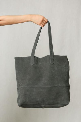 Thatcher Tote Bag in Grey - Vinnie Louise