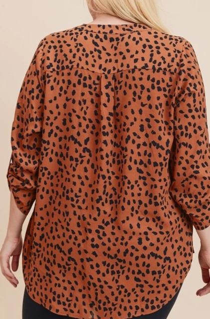 Mallory Blouse - Rust