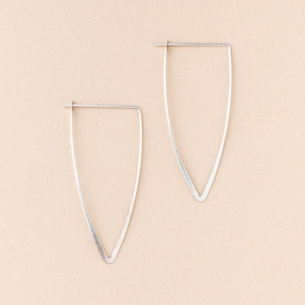Refined Earring Collection - Galaxy Triangle/Sterling Silver