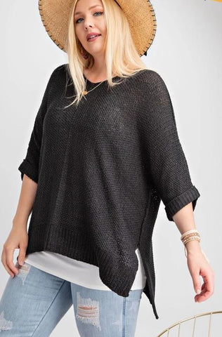 Marley Sweater - Black - Curvy