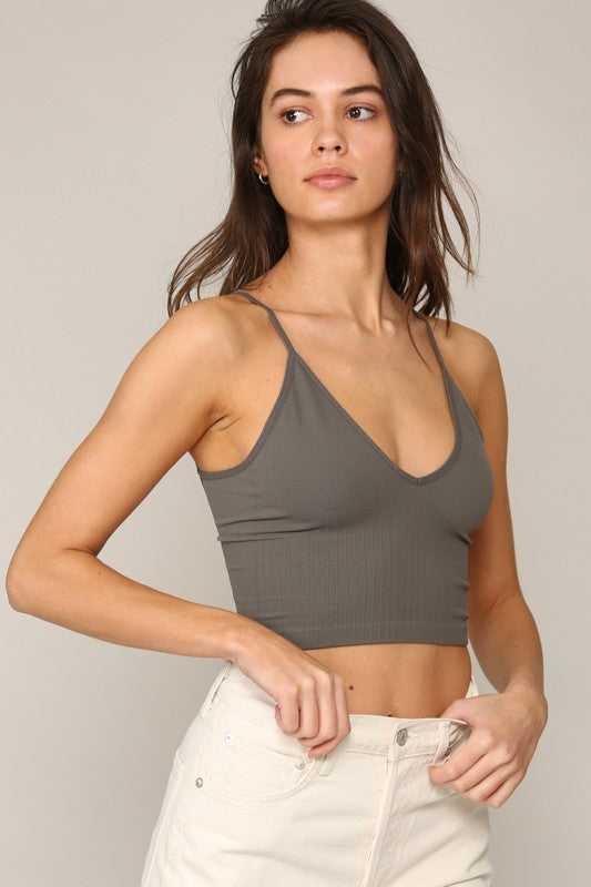 Willa Bralette - Charcoal