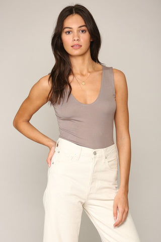 Layering Tank - Light Taupe