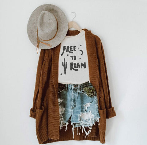 Free To Roam Tee - White