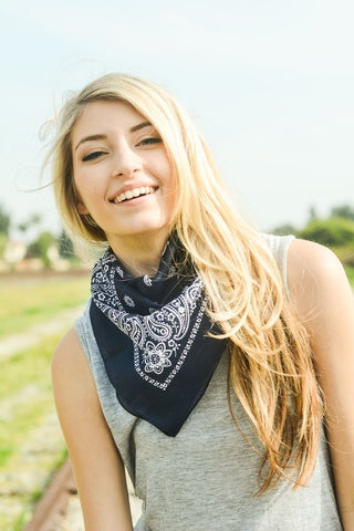 Carolina Bandana - Navy