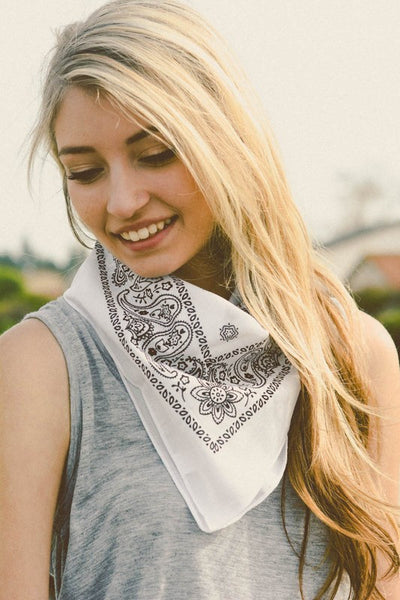 Carolina Bandana - White