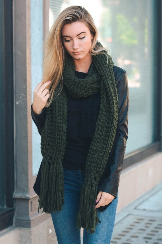 Harper Scarf - Forest Green