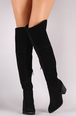 Vida Over-the-Knee Boots - Black - Vinnie Louise - 1