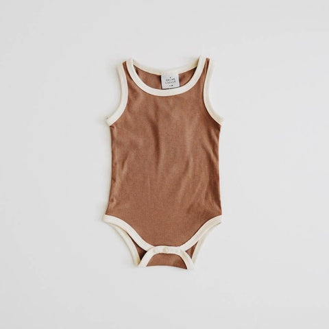 Ribbed Bodysuit - Chocolate