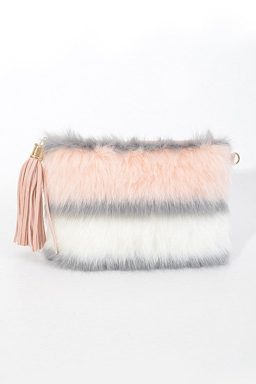 Serbia Faux Fur Clutch