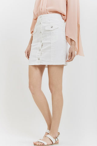 Isla White Denim Skirt