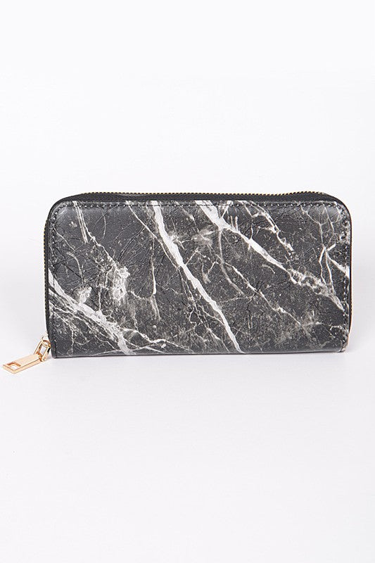 Rome Marble Wallet - Black