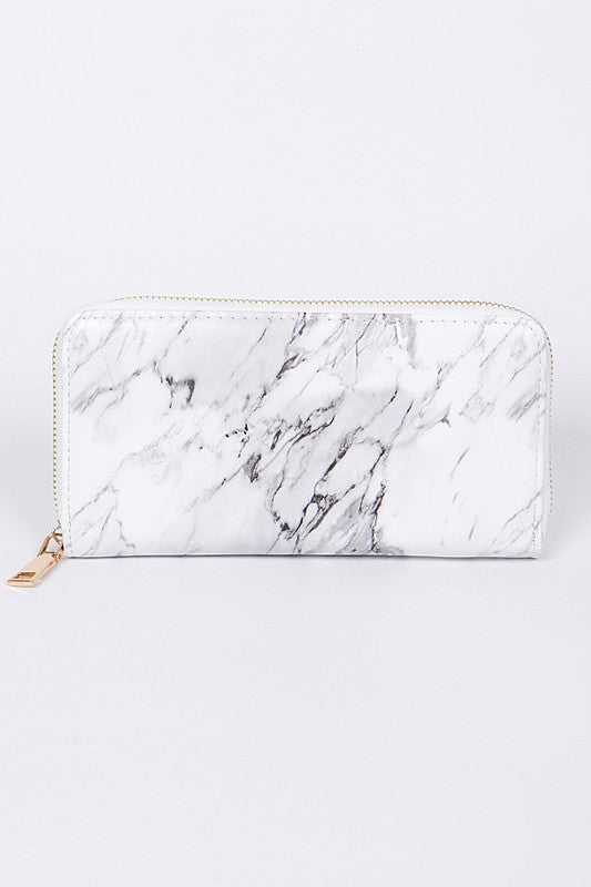 Rome Marble Wallet - White
