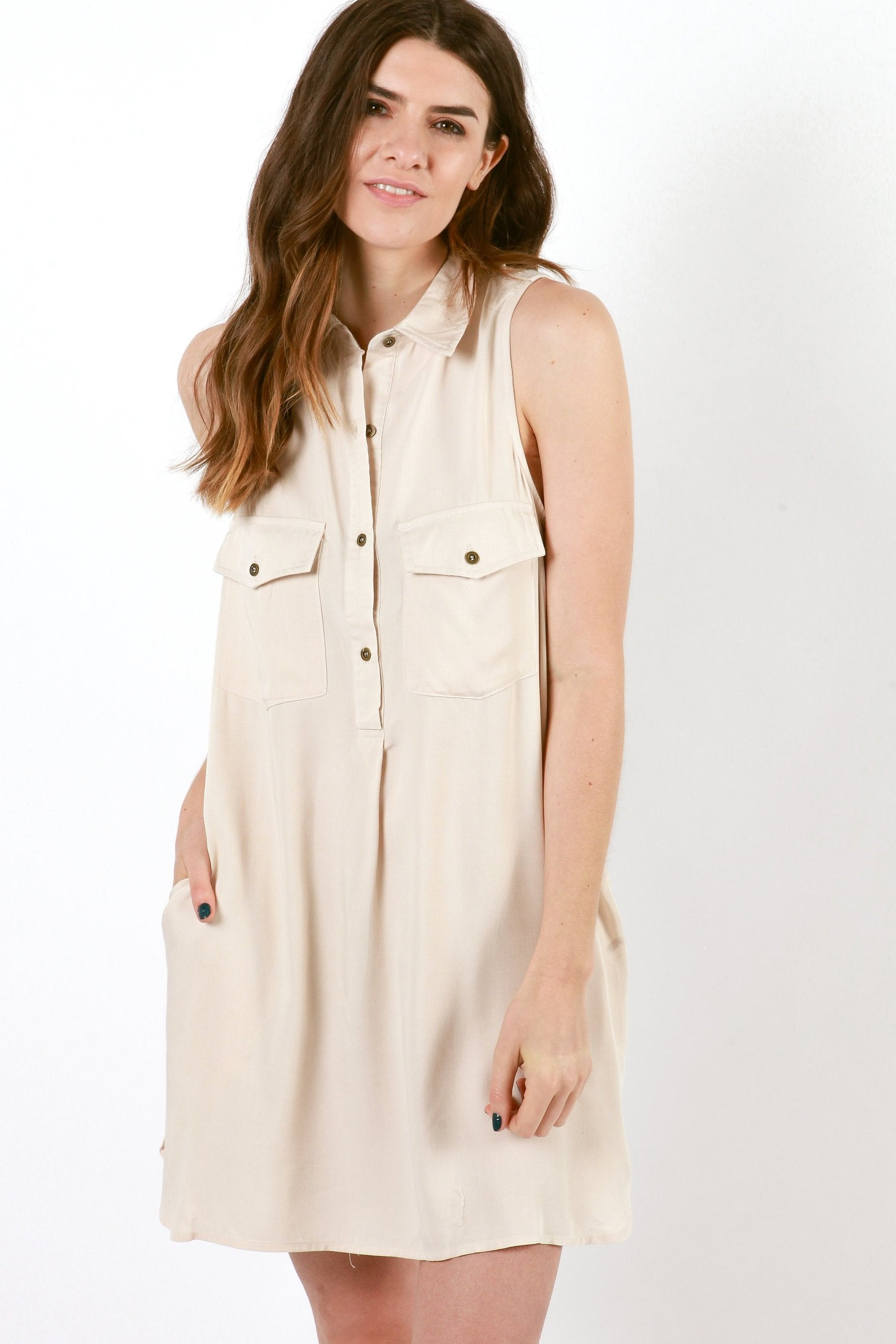 Abi Button Down Dress