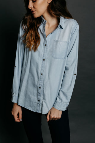 Addison Top - Chambray