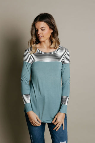 Adley Top - Dusty Blue