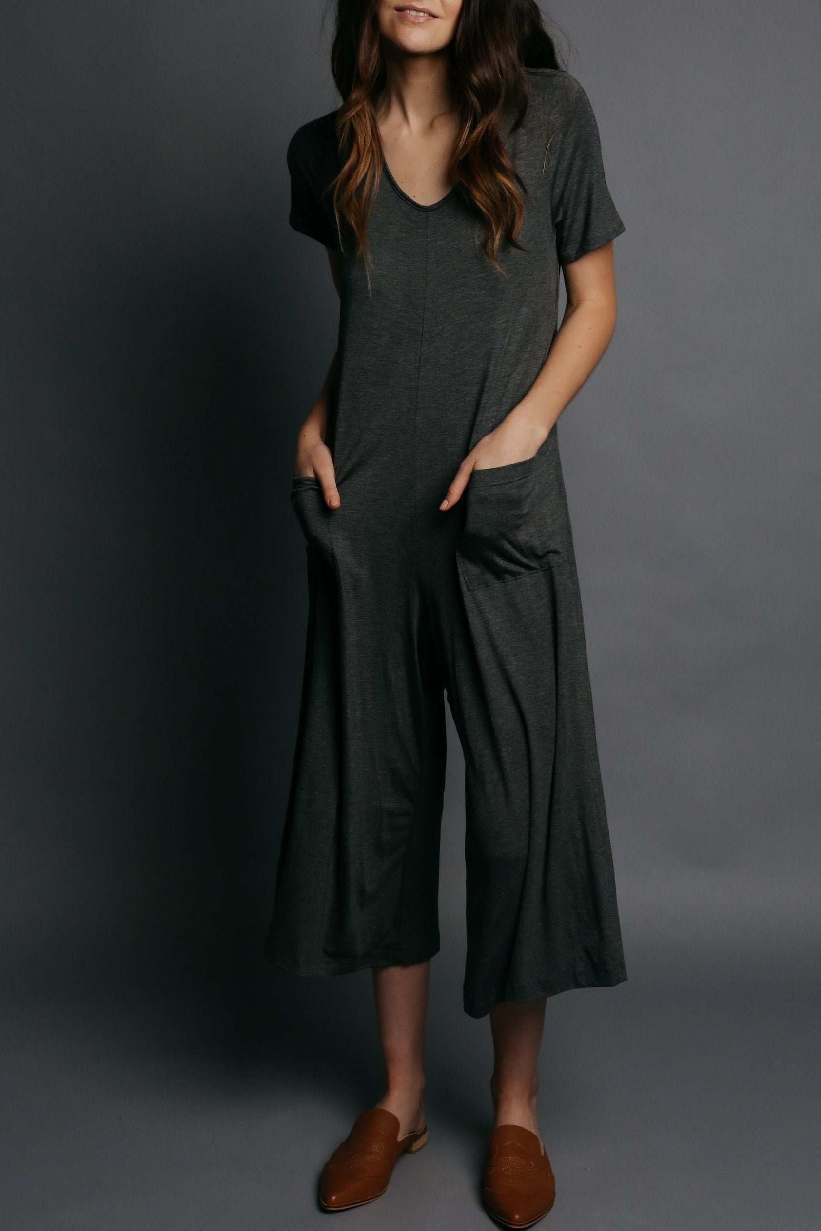 Aimee Jumpsuit - Charcoal
