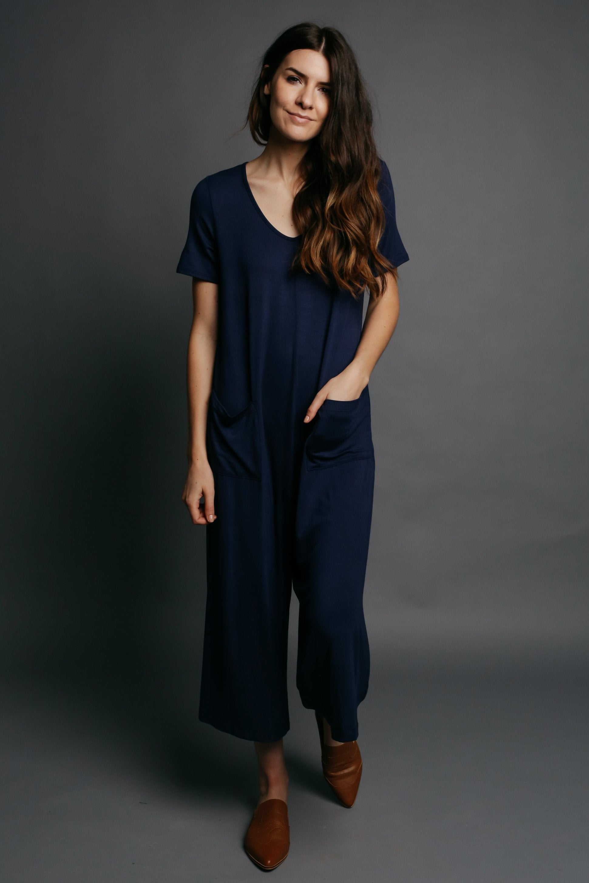 Aimee Jumpsuit - Navy