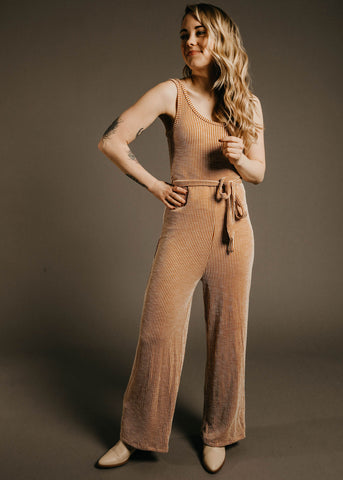 Alexis Jumpsuit - Clay