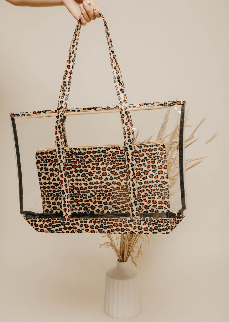 Animal Print Clear Tote