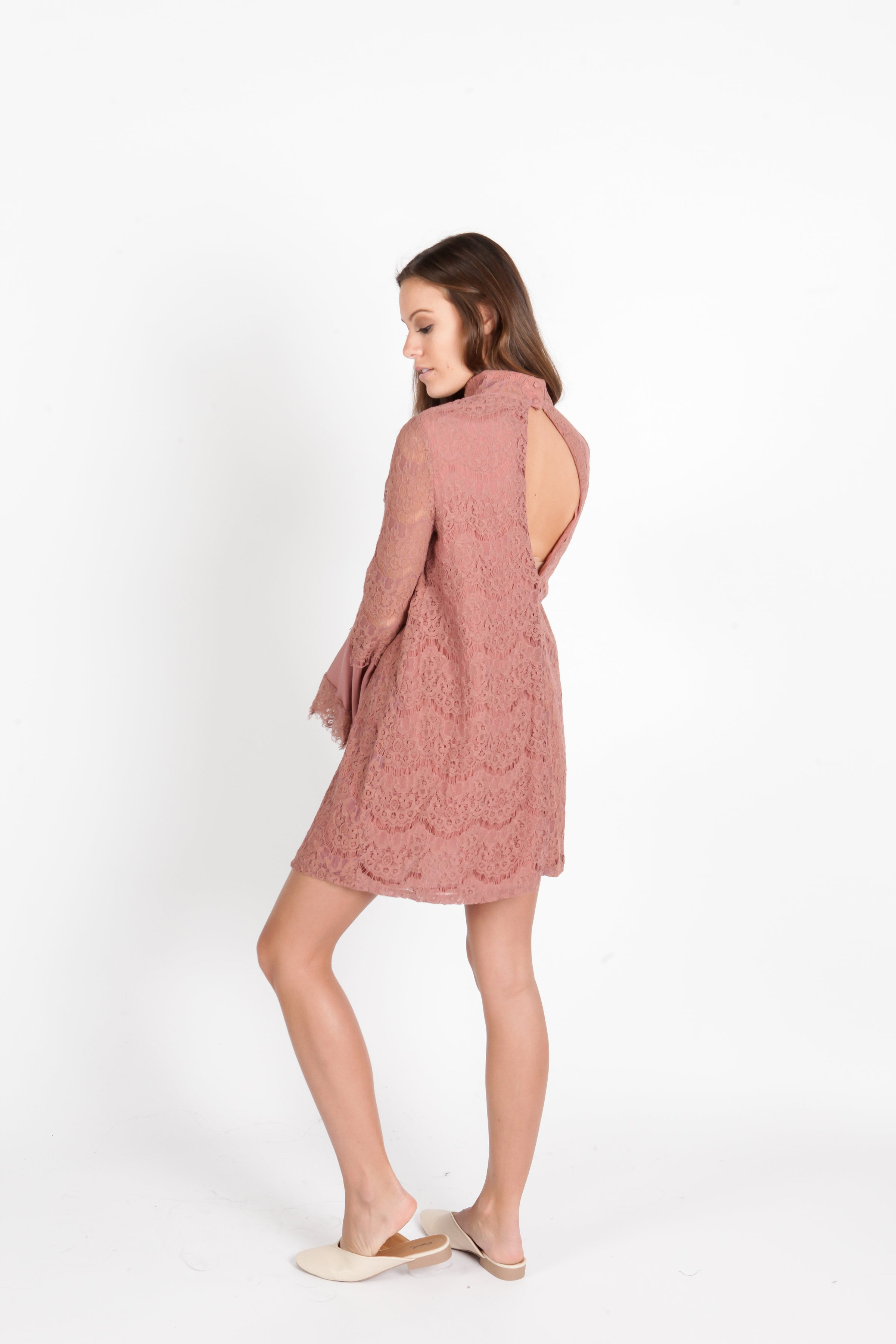 Ayana Lace Dress - Rose Dresses - Vinnie Louise