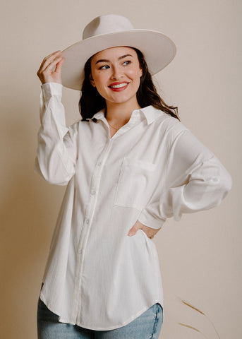 Baylor Button Down - Ivory