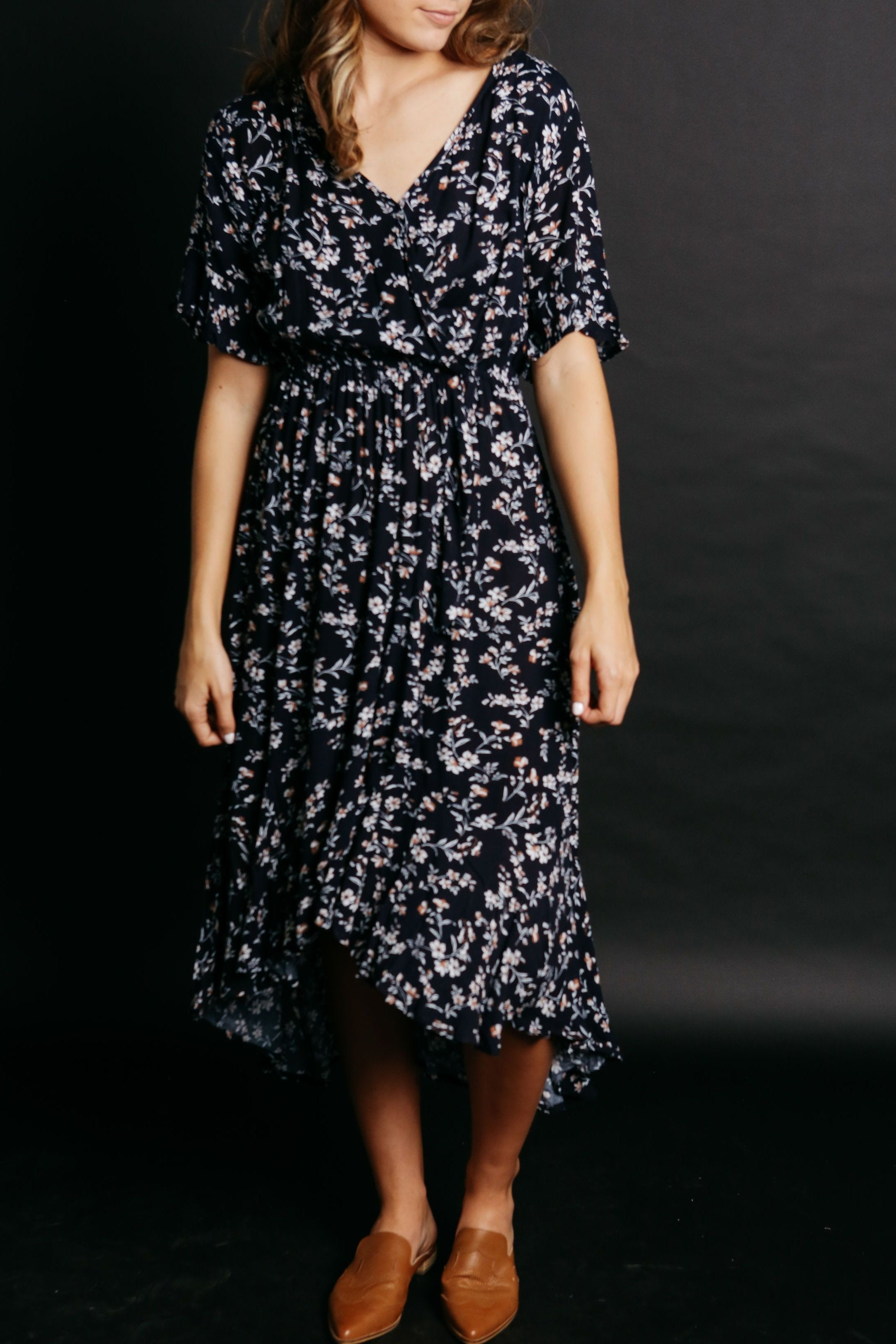 Bella Dress - Navy