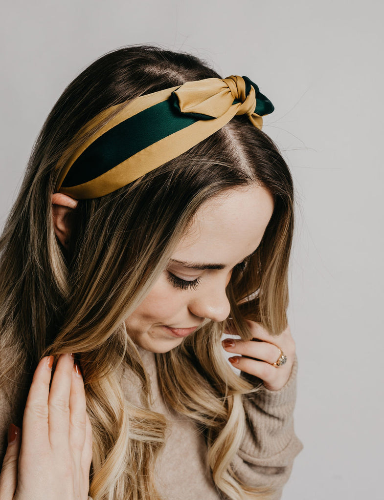 Bow Headband - Green