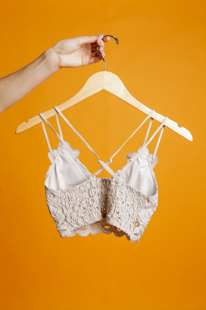 Jessi Lace Bralette - Taupe