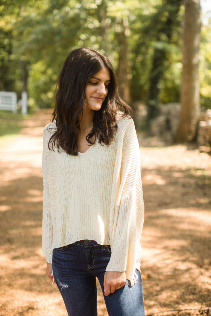 Callie Sweater - Ivory