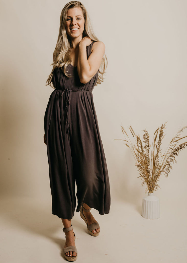 Campbell Jumpsuit - Charcoal