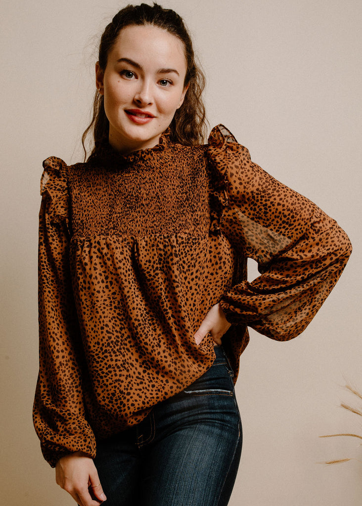 Chrissy Blouse - Brown