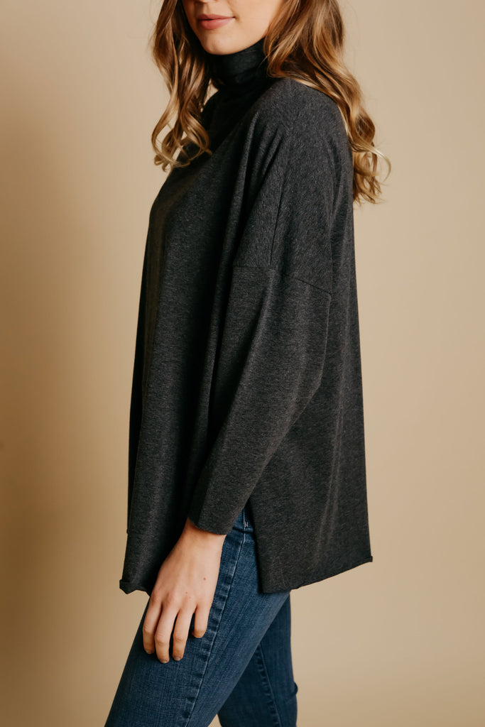 Cordelia Top - Charcoal