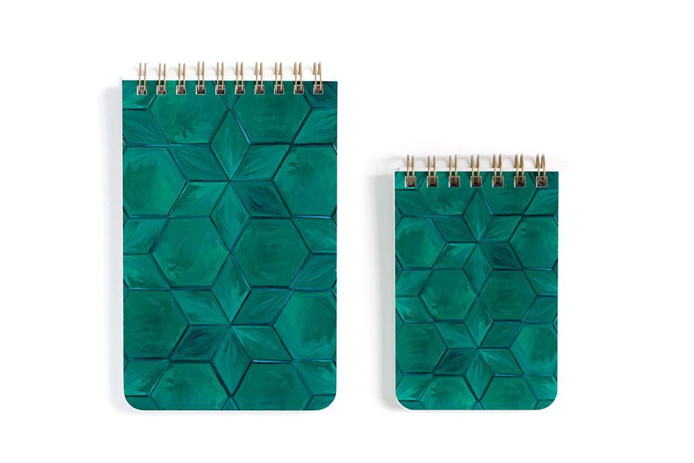 Small Green Tile Spiral Notebook