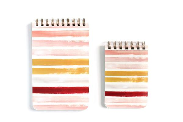 Small Sunset Stripe Spiral Notebook