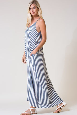 Harriett Striped Maxi - Chambray
