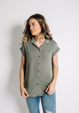 Dallas Button Down - Olive
