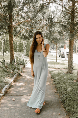 Market Maxi Monday!  TODAY ONLY - Lauren Maxi Dress - Slate