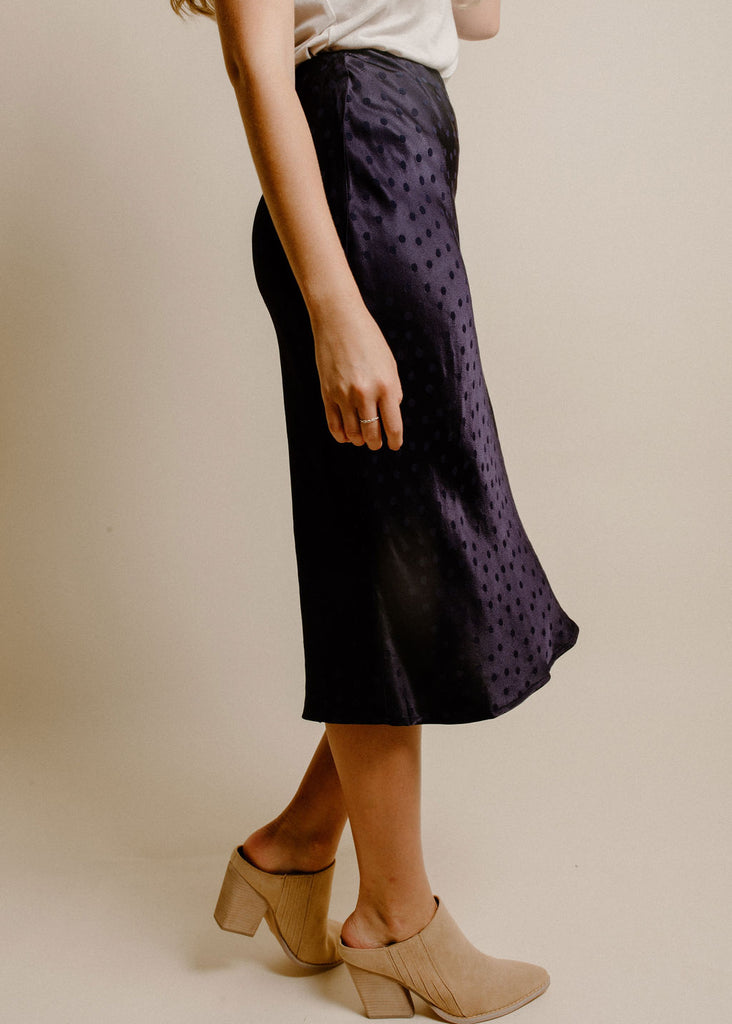 Dela Midi Skirt - Navy