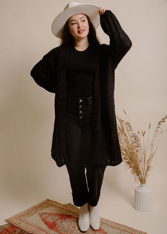 Dust in the Wind Cardigan - Black