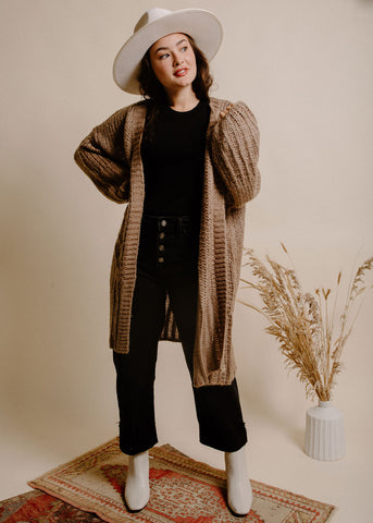Dust in the Wind Cardigan - Taupe