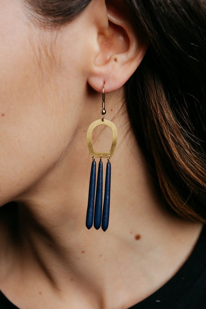 Empress Earrings - Blue