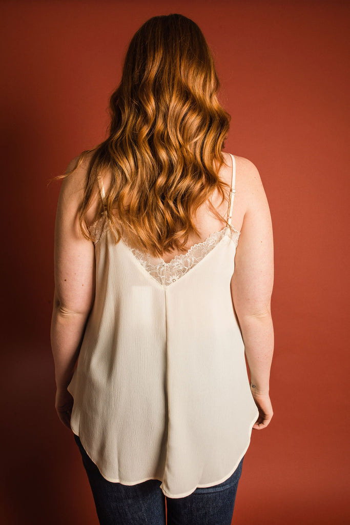Evelyn Top - Ivory - Curvy