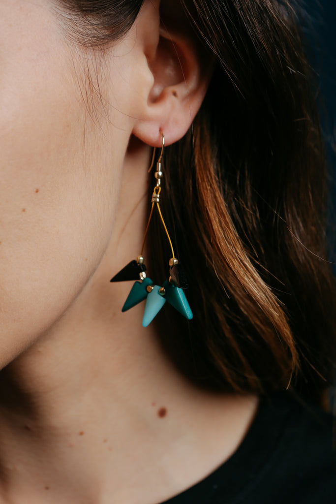 Farida Earrings Blue