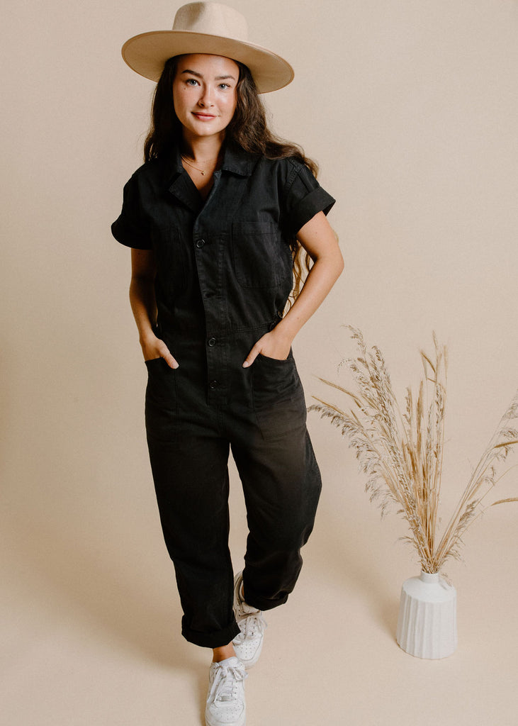 Grover Jumpsuit - Washed Black