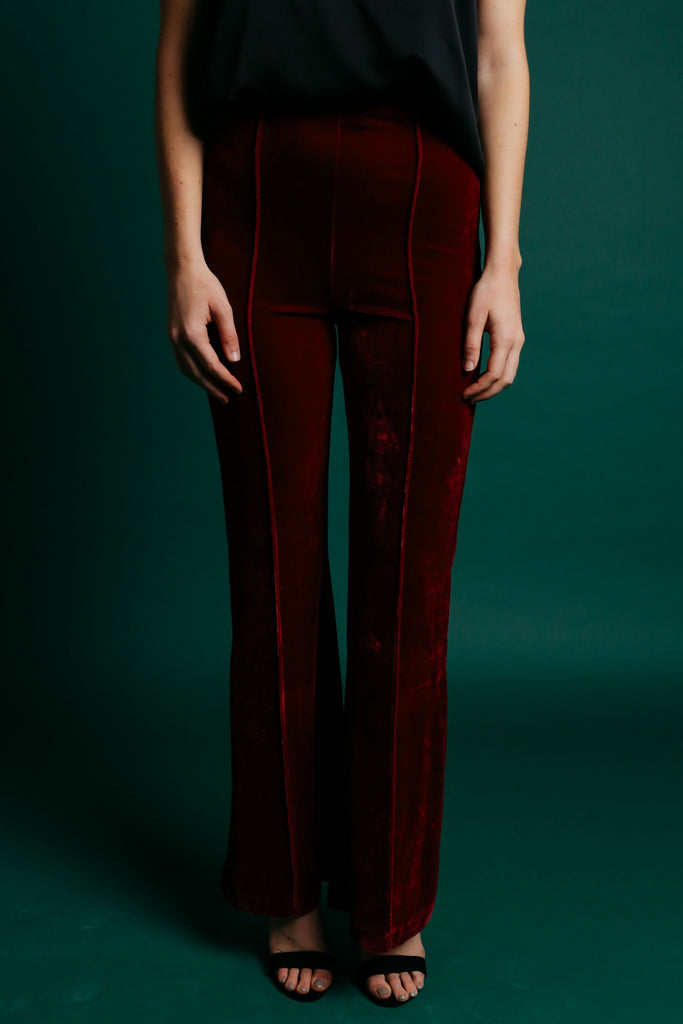 Gwendolyn Pants - Burgundy