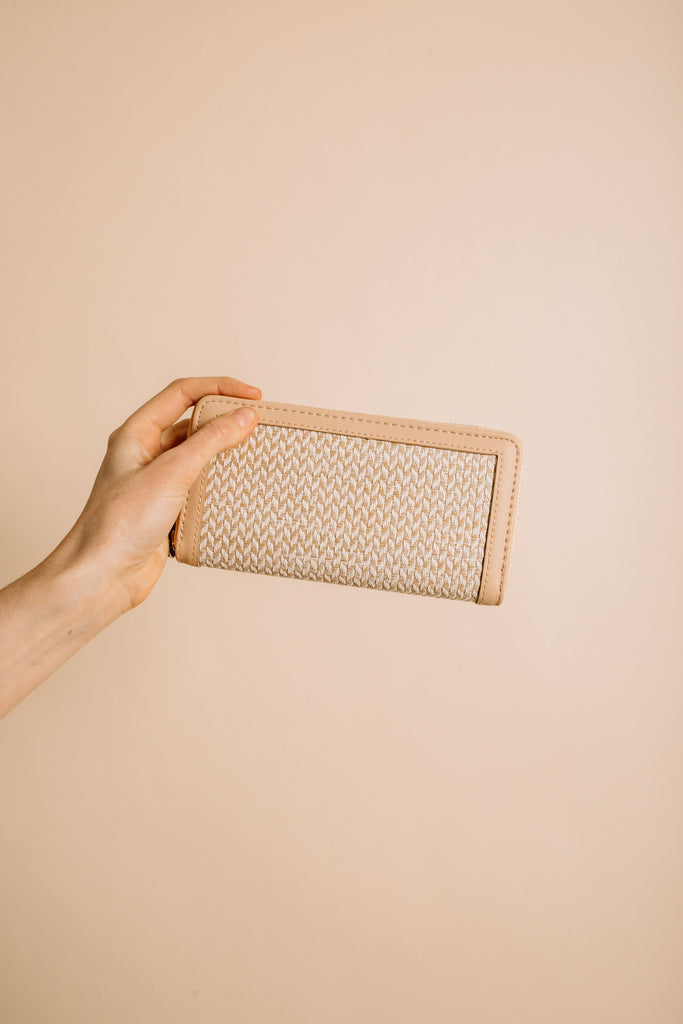 Hamptons Wallet - Beige